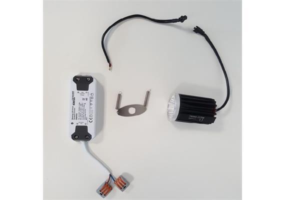 SET MR16 LED Modul & Konverter 9.2W 60° 3000K 240V D=50 H=71.5 DC 500mA 750lm CRI:90 IP20
