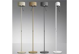 Steh-Leseleuchte Diogenes-10 LED 45W 27K Goldgrau dimmbar am Standrohr 670+4900lm