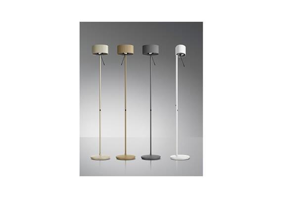 Steh-Leseleuchte Diogenes-10 LED 50W Graphitschwarz 240V 2700K 5256lm H=1766 B Kopf=258mm