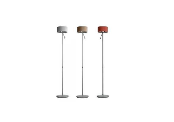 Steh-Leseleuchte Diogenes aluminium Direkt 1x BA15d 12V/50W/indirekt 1x300W R7s 230V