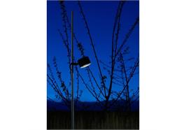 Stehleuchte Bubka LED 10W 3000K Metall schwarz m. 230V 720lm H=2.95m D=Fuss 15cm IP65