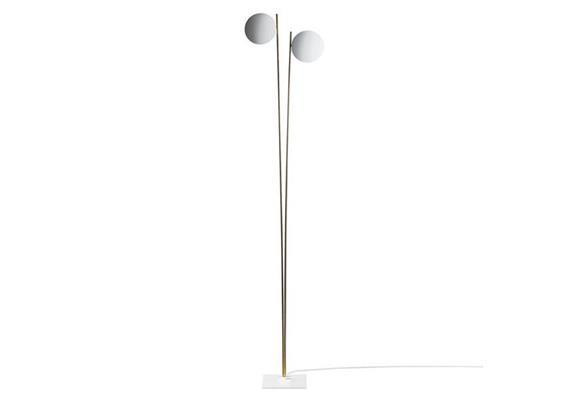 Stehleuchte Lederam F2 LED 34W/2700° weiss/Satin  230V/3400lm/H=198 B=44 cm, dimmbar