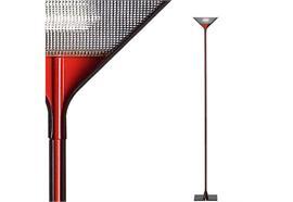 Stehleuchte Papillona schwarz-rot 1x300 R7s /240V H=192 b=26 dimmbar