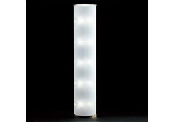 Stehleuchte Pirellone nickel / Glas 230V/R7s 1x300W + E14 10x40W mit 2fach Dimmer