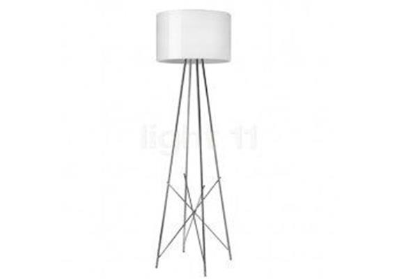 Stehleuchte RAY F2 chrom/Metall weiss 230VE27 1x 230W dimmbar D=430 H=1710