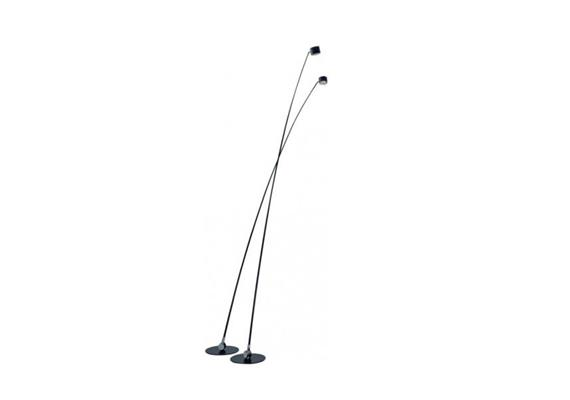 Stehleuchte Sampei LED 18W 3000K 230 schwarz matt 230V 1800lm H=230 D=Fuss 45cm dimmbar
