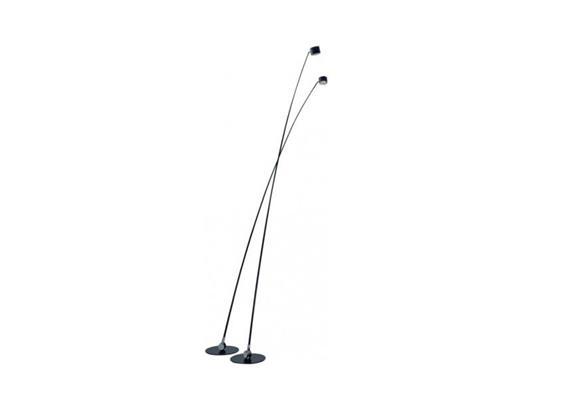 Stehleuchte Sampei LED 18W 3000K 290 schwarz matt  230V 1430lm H=2.90m D= Fuss 45cm dimmba