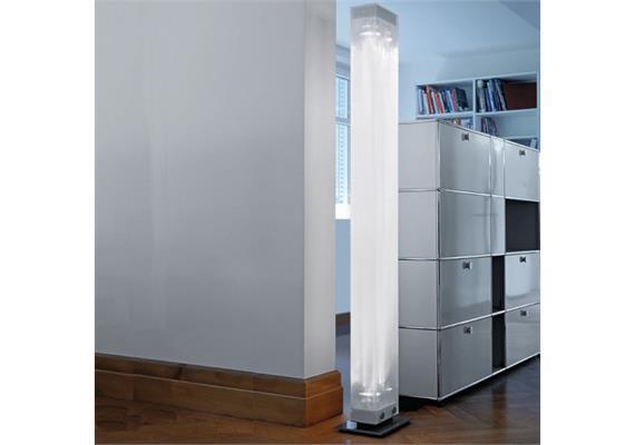 Stehleuchte Twilight-08 Kunstglas 60W LED 240V/ LED 48W 2700°-4000°K/ H=1880 B=225 T=230