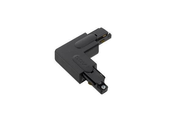 Stromschiene Eckverbinder 90° 1Phase schwarz