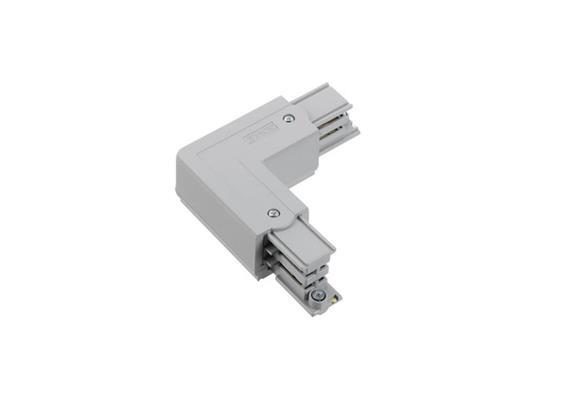 Stromschiene Eckverbinder 90° 1Phase weiss