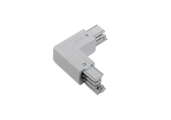 Stromschiene L-Verbinder 3Ph links silber L=66x66