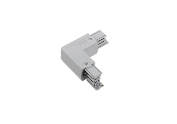 Stromschiene L-Verbinder 3Ph rechts weiss L=66x66