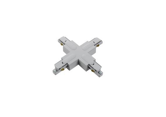 Stromschiene X-Verbinder 1Phase silbergrau