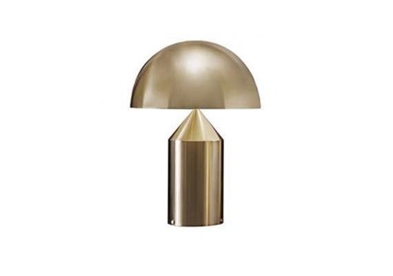 Tischleuchte Atollo 239 Metall gold 240V 2x75W E27 H=50 D=38cm IP20