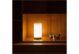 Tischleuchte Bugia LED 2W 3000K weiss matt 4,8V Akku 237lm D=92 H=345mm IP20