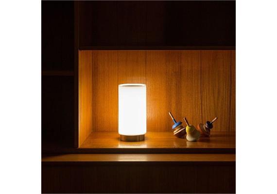 Tischleuchte Bugia LED 2W Methacrylat matt 4,8V Akku 3000K 120lm D=110 H=225mm IP20