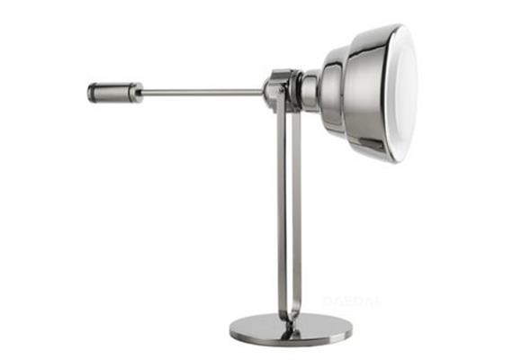 Tischleuchte GLAS klein chrom 240V/E27/1x20W H=59cm B=55cm