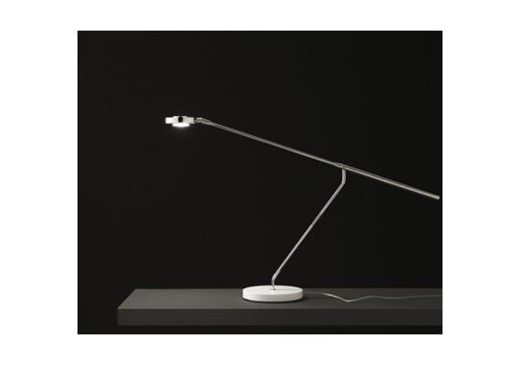 Tischleuchte Lutz LED 1x 8W  Sockel schwarz matt, Gestänge Chrom L=92 cm