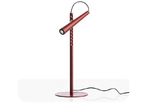 Tischleuchte Magneto LED rot 230V/ LED 1x 2.4W 2700° Kelvin D= 15cm H= 38cm