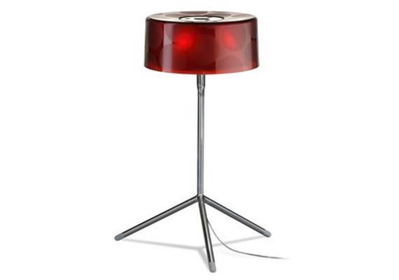 Tischleuchte Money cristal-rot  240V/ 30W/ LED