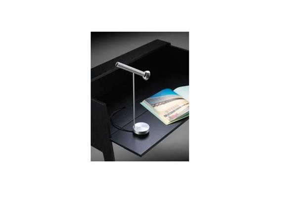 Tischleuchte Topoled T LED 10W 2700°K alu  230V/10W/H=32cm/ 760lm  Dimmer im Sockel