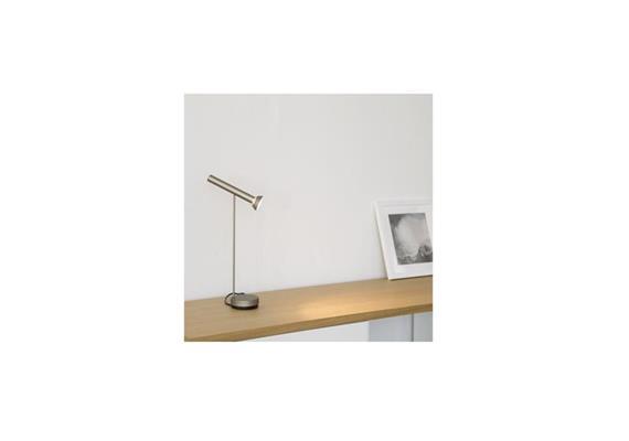 Tischleuchte Topoled T LED 10W 2700°K bronze 230V/10W/H=32cm/ 760lm Dimmer im Sockel