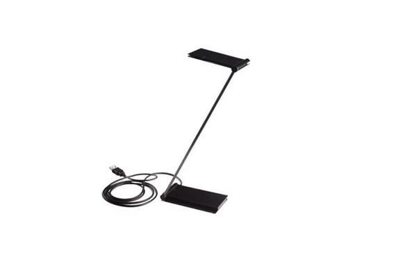 Tischleuchte Zett USB schwarz 2700°K  2 LED 4W 100-240V inkl.USB-Stecker Trafo