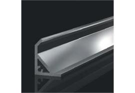 Vitrinenprofil Prism 20 für LED Bänder alu eloxiert H=15.2mm T=15.7mm L=1m