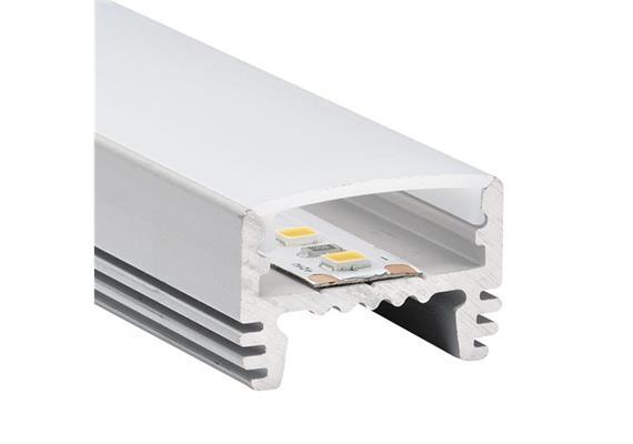 Wand-Deckenaufbauprofil TOP33 für LED alu eloxiert B=24.5mm H=16.6mm L=1000mm
