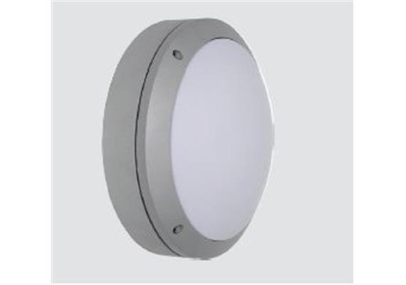 Wand- Deckenleuchte Circular 14W IP65 silbergrau 240V 3000K 1500lm D=264 H=102