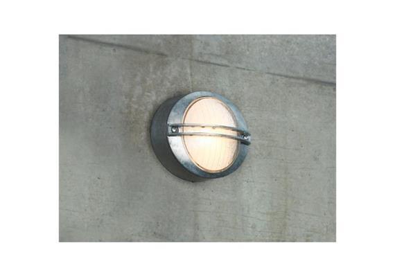 Wand-Deckenleuchte Oval 60 verzinkt 230V/ R7s max.60W/IP54 B=25 H=20.5 T=10cm