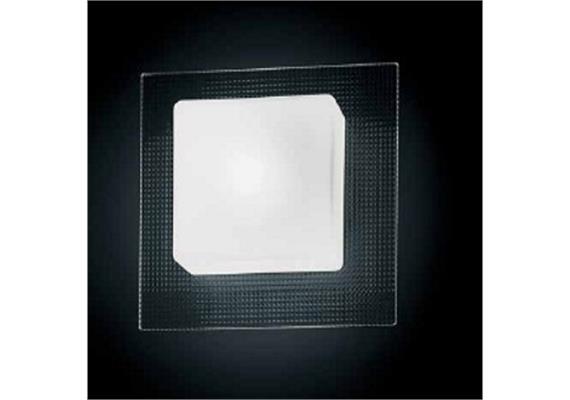 Wand-Deckenleuchte Quadra Mini P-PL diamantino 230V G9 max.40W Glas weiss Eckig 18x18