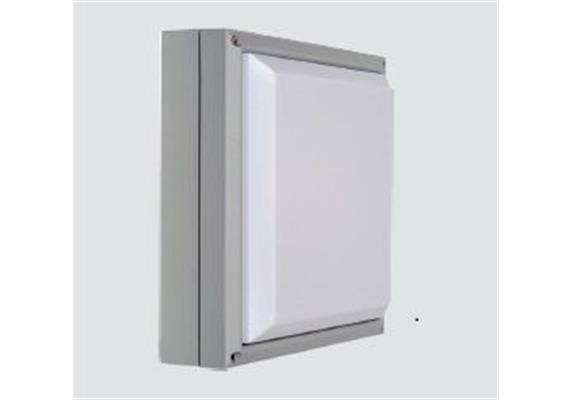 Wand- Deckenleuchte Square 14W LED silbergrau 240V 1500lm 3000K L=270x270 H=85 IP65