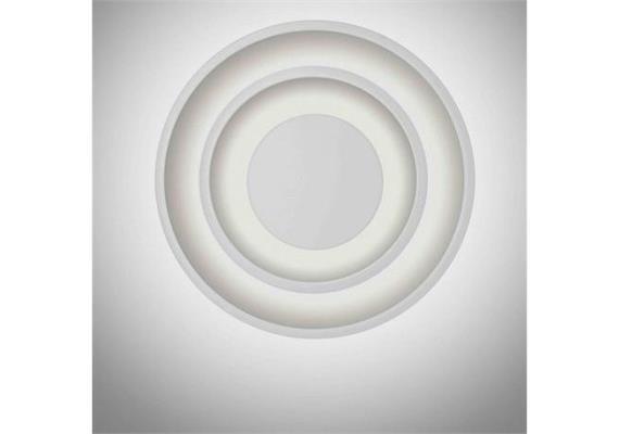 Wand- Deckenleuchte Vent LED 12.5W weiss  230V 2700K 1350lm D= 40cm T= 10cm IP20