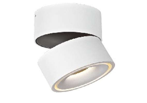 Wand-Deckenstrahler LED 1x9.3W 2700°K weiss/schwarz 45° 230V/835lm D=100 H=103 CRI80 IP20