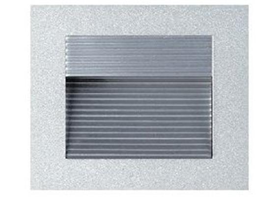 Wand-Einbauleuchte 90x90mm asymmetrisch 20W silberfarbig  12V G4 max.1x20W AS=76x76 ET=30