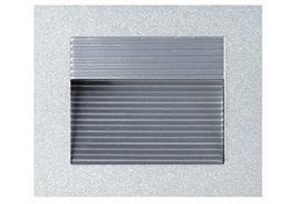 Wand-Einbauleuchte 90x90mm asymmetrisch 25W silberfarbig 230V G9 max.1x2W AS=76x76 ET=30