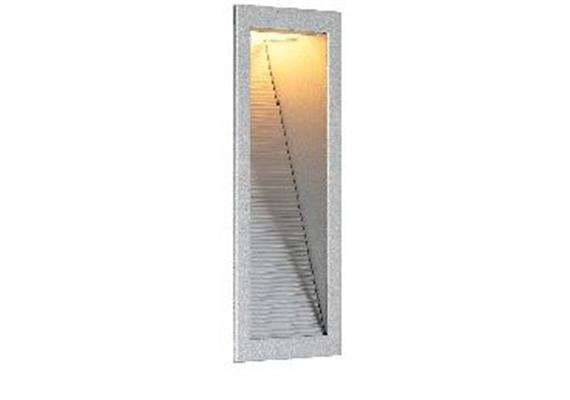 Wand-Einbauleuchte NV 80x236mm silberfarig 230V Gy 6.35 max.1x20-50W AS=70x225 ET=78