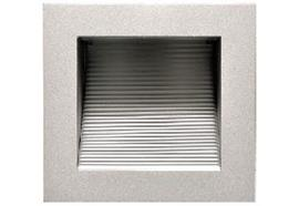 Wand-Einbauleuchte NV 90x90mm silber eloxiert 230V/ GY6.35 max.1x25W AS=76x76 ET=77