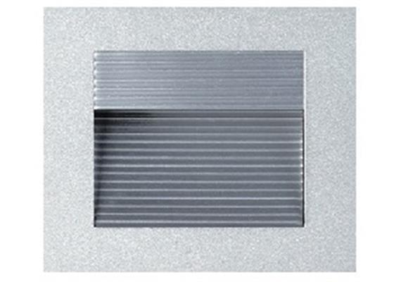 Wand-Einbaustrahler asymetrisch 90x90 LED 1.2W ww silber 24V/350mA DC / ET=30 As=76x76