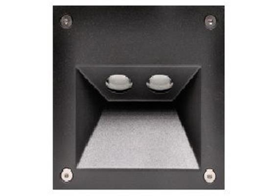 Wandeinbauleuchte 5575 LED 2x1W IP54 silbergrau 230V / 2x1W 350mA /2700°K CRI80 Cree Led