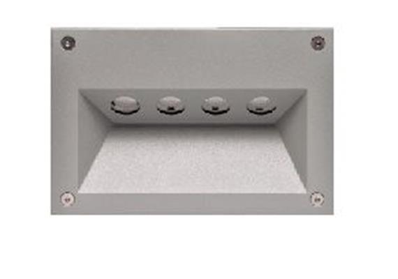 Wandeinbauleuchte 5576 LED 4x1W IP54 antrazit  230V/4x1W 350mA / 2700°K CRI80 Cree Led