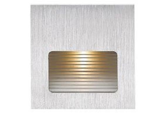 Wandeinbauleuchte LED aluminium gebürstet 2700°K 230V/ LED 2.5W /700mA /AS=65x65mm