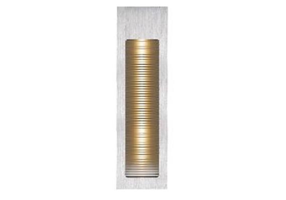 Wandeinbaustrahler LED alu gebürstet 2700°K 230V/ LED 2.5W/700mA / AS=170x45mm ET=45mm