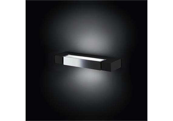 Wandleuchte ARA LED anthrazit/chrom 230V 2xLED 10+10W/2700°K/1000+1000lm