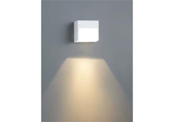 Wandleuchte Bay LED 1x2.5W weiss 2700°K IP54 230V/24V/700mA DC / H=80 B=85 T=70