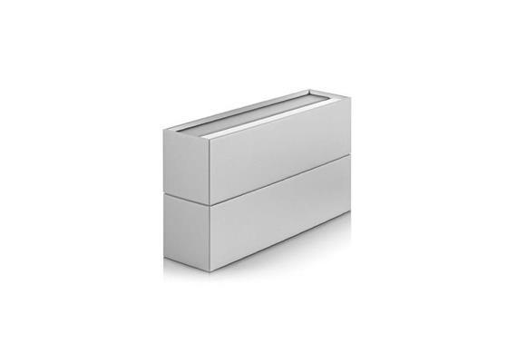 Wandleuchte CUBO LED 13W 3000°K Grau mét. 230V/ 2x785lm/ L=166mm H=94mm T=54mm IP20