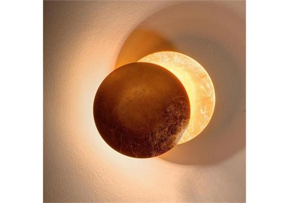 Wandleuchte Lederam W LED 17W/2700°K Kupfer/Kupfer  230V / 1700lm D=25 x T= 9 cm
