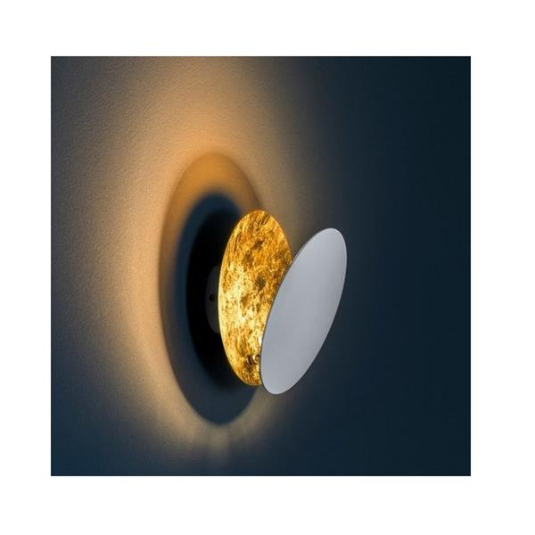 Wandleuchte Lederam W1 25 LED 17W schwarz gold 230V / 2700K 1700lm D=250 x T= 84 mm H=173 ...