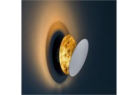 Wandleuchte Lederam W1 25 LED 17W schwarz-gold 230V / 2700K 1700lm D=250 x T= 84 mm H=173